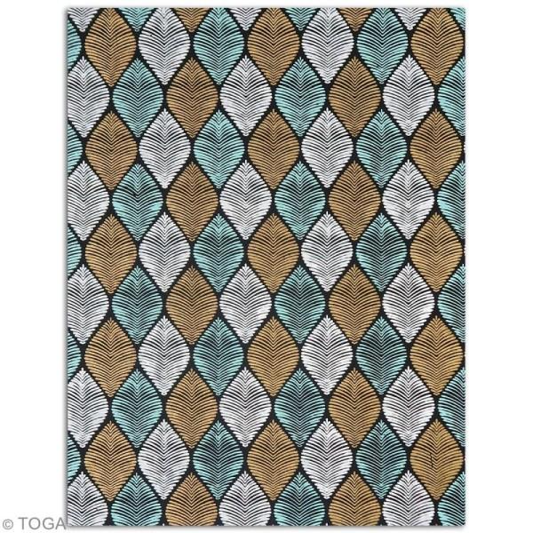 Papier l'Or de Bombay 27,8 x 21,2 cm - Noir et bleu - 6 feuilles - Photo n°6