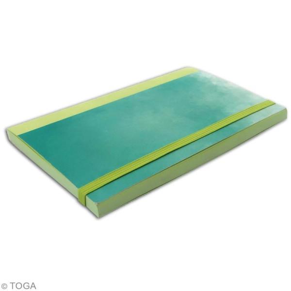 Carnet de poche bicolore - 60 pages - Vert pomme et Vert - 10 x 15 cm - Photo n°2