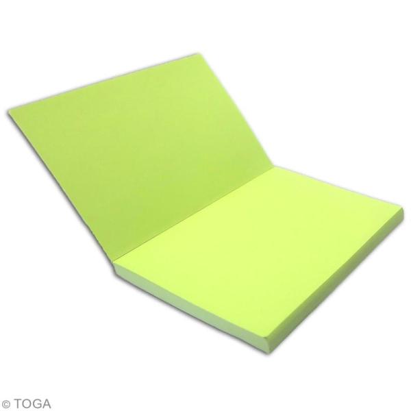 Carnet de poche bicolore - 60 pages - Vert pomme et Vert - 10 x 15 cm - Photo n°3