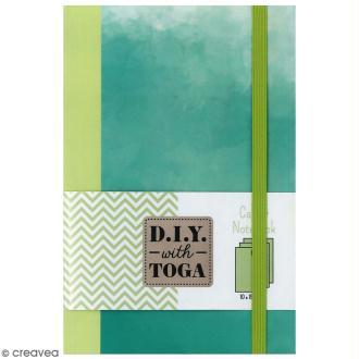 Carnet de poche bicolore - 60 pages - Vert pomme et Vert - 10 x 15 cm