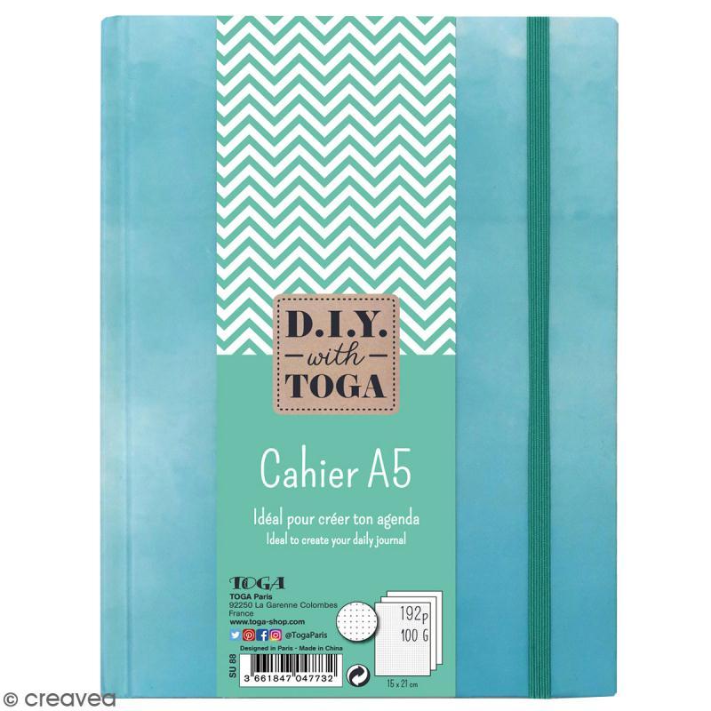 carnet de poche bicolore a5 couverture rigide bleu 192 pages carnet de notes creavea. Black Bedroom Furniture Sets. Home Design Ideas