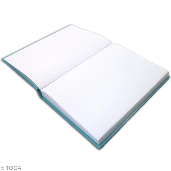Carnet de poche bicolore A5 - Couverture rigide - Bleu - 192 pages - Photo n°3