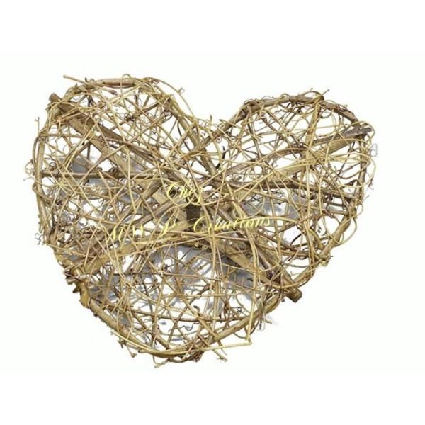 Coeur En Sarment De Vigne - 20Cm - Photo n°1