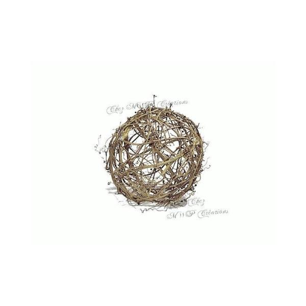Boule En Sarment De Vigne - Diamètre 12Cm Ou 17Cm - Photo n°1