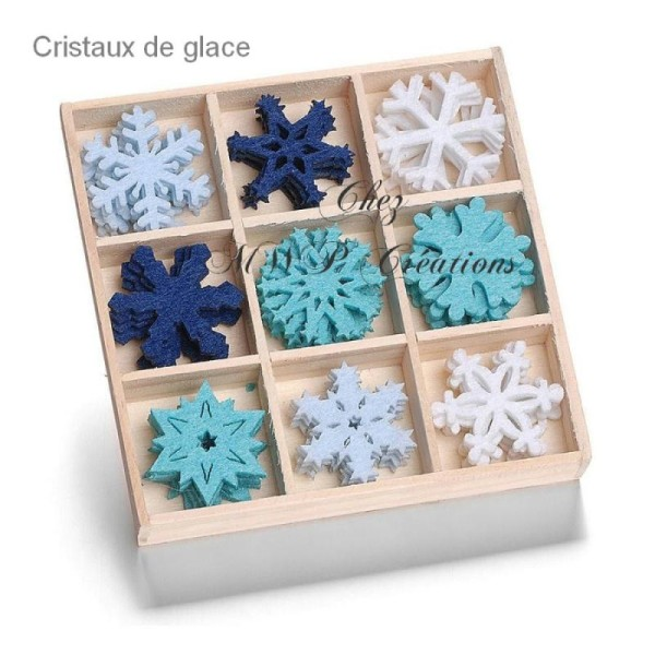 Boite Petits Ornements Feutrine - Noël Et Fin D'Année (Plusieurs Assortiments Disponibles) - Photo n°2