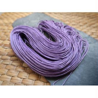 Cordon coton ciré violet, macramé tissage bijoux, 1 échevau de 80 mètres/1 mm de diamètre