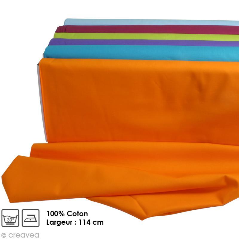 Tissu uni 100% coton - Largeur 114 cm - Par 10 cm (sur mesure) - Photo n°1