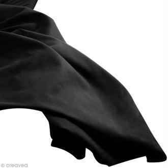 Tissu uni Noir (Black) 100% coton - Largeur 114 cm - Par 10 cm (sur mesure)