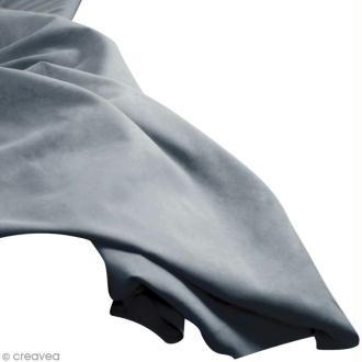 Tissu uni Gris moyen (Nugray) 100% coton - Largeur 114 cm - Par 10 cm (sur mesure)