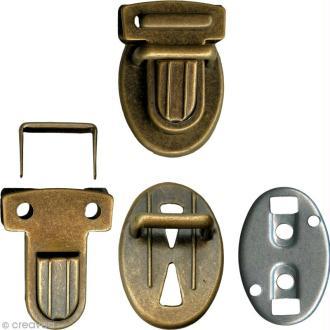 Fermeture de cartable - Bronze - 1 paire
