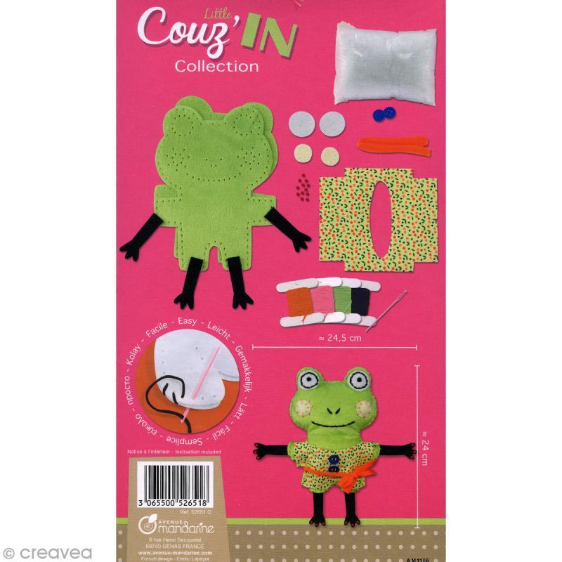 kit cr atif little couz 39 in gaby la grenouille jeux cr atifs de 6 10 ans creavea. Black Bedroom Furniture Sets. Home Design Ideas