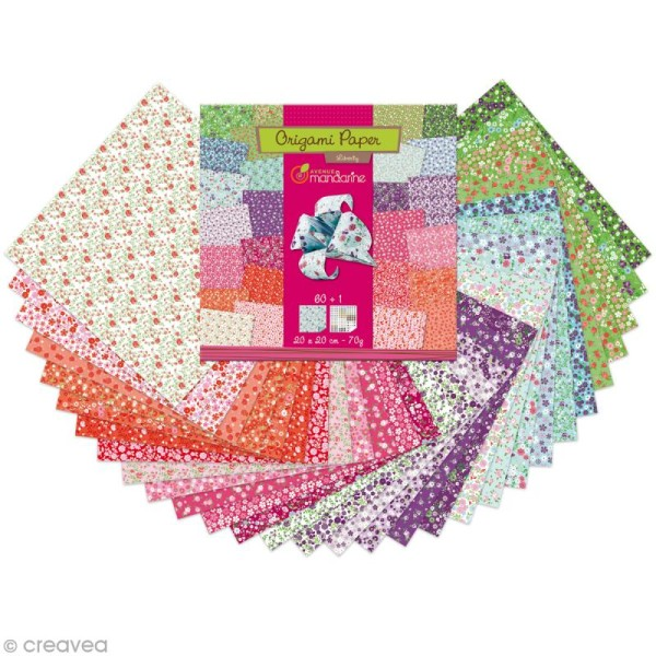 Origami 20 x 20 cm - Liberty - 60 papiers - Photo n°2