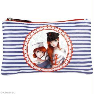 Trousse scolaire - Miss Modeline Sailor sisters - 20 x 12 cm