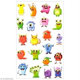 Sticker Fantaisie Cooky - Monstres - 21 pcs