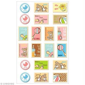 Sticker Fantaisie Cooky - Timbre Bébé - 20 pcs