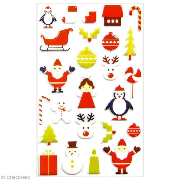 Sticker Fantaisie Cooky - Noël tendance - 25 pcs - Photo n°1