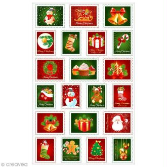 Sticker Fantaisie Cooky - Timbres Noël - 21 pcs