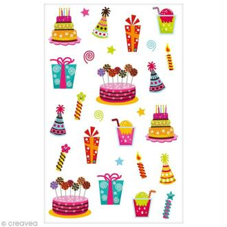 Sticker Fantaisie Cooky - Anniversaire - 20 pcs