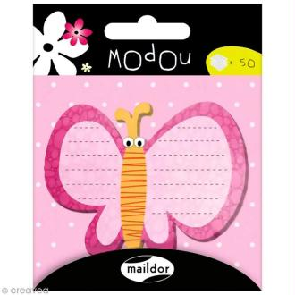 Mémo adhésif Modou - Papillon x 50 pcs