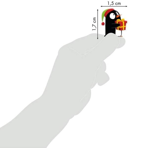 Sticker Fantaisie Cooky - Noël pingouin - 18 pcs - Photo n°2