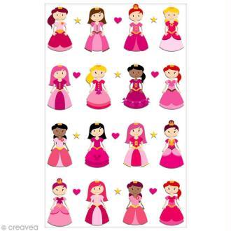 Sticker Fantaisie Cooky - Princesses - 16 pcs