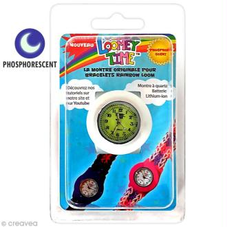 Montre Loomey Time pour bracelets élastiques - Phosphorescent
