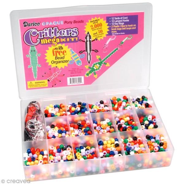 Assortiment perles plastiques - Opaque - 2000 pcs - Photo n°1