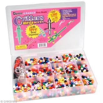 Assortiment perles plastiques - Opaque - 2000 pcs