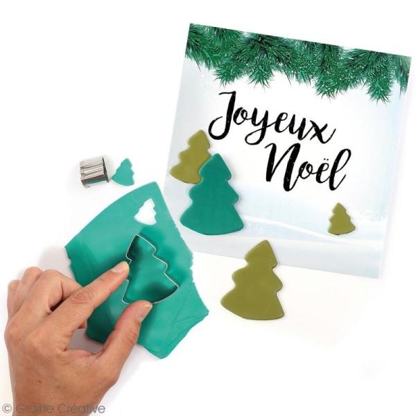 Emporte pièce inox pour modelage - Sapin de Noël - 3 pcs - Photo n°2