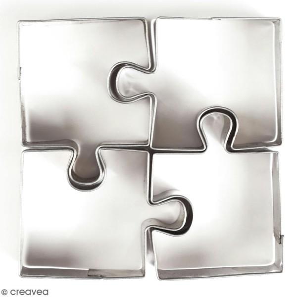 Emporte pièce inox pour modelage - Puzzle - 3 pcs - Photo n°1