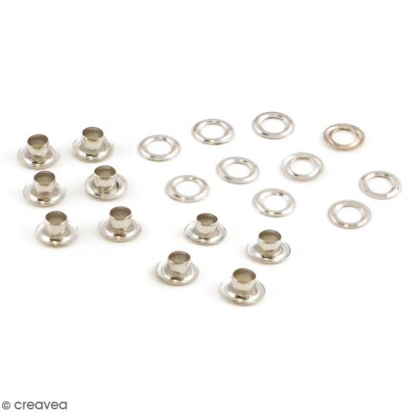 Support bijoux - Noyaux de perles en métal argenté - 10 pcs - Photo n°1