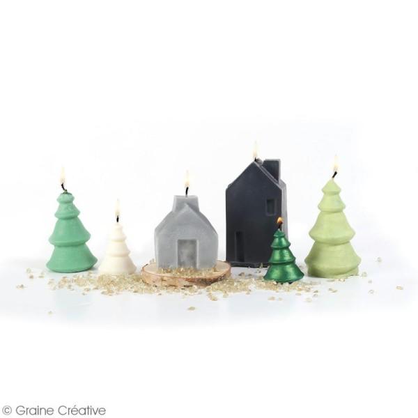 Moule latex spécial bougie - Sapin de Noël - 5,5 et 9 cm - 2 pcs - Photo n°3