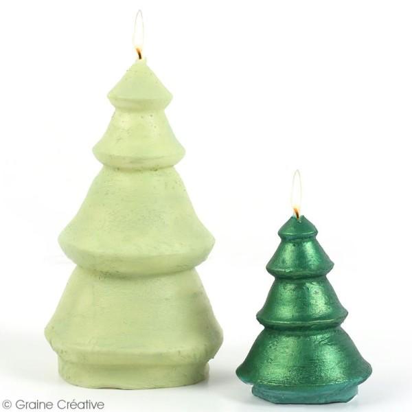 Moule latex spécial bougie - Sapin de Noël - 5,5 et 9 cm - 2 pcs - Photo n°4