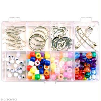 Kit perles et accessoires Enfant pour scoubidous - 156 pièces