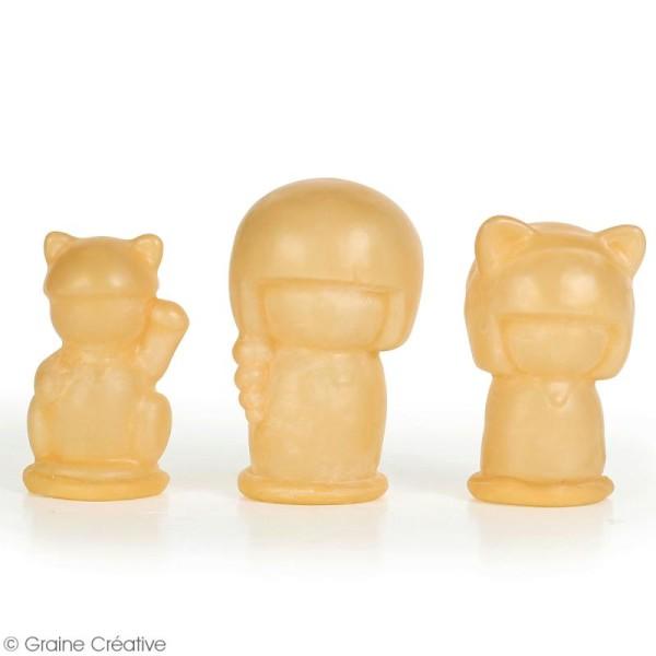 Moule latex pour moulages - Poupées Kokeshi - 6 à 8 cm - 3 pcs - Photo n°2