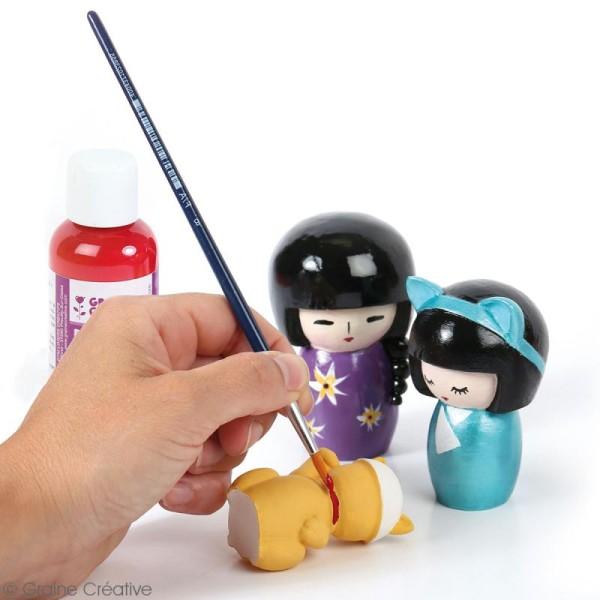 Moule latex pour moulages - Poupées Kokeshi - 6 à 8 cm - 3 pcs - Photo n°3