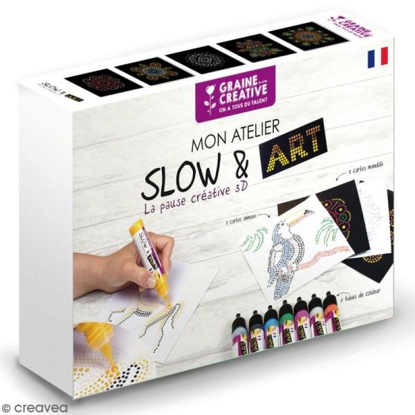Coffret peinture Slow & Art Graine Créative - 18 pcs - Photo n°1