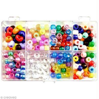 Kit perles bracelet loops - Assortiment - 240 pcs