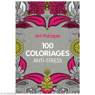 Livre coloriage adulte anti-stress - A4 - 100 coloriages