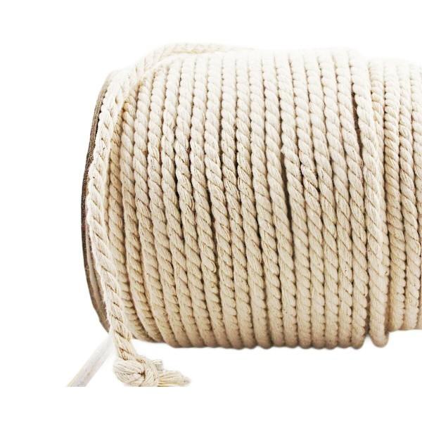 3m 10ft 3.3 m Écru Crème Cordon en Coton Blanc Naturel de Corde Torsadée Artisanat Tissage Macramé d - Photo n°1