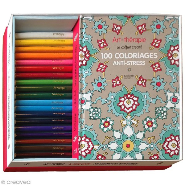 Coloriage Adulte Therapie.Coffret Luxe Art Therapie Coloriage Adulte 30 4 X 21 6 Cm 100