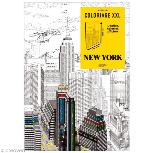 Coloriage Adulte New York.Coloriage Adulte Poster Xxl New York 90 X 126 Cm
