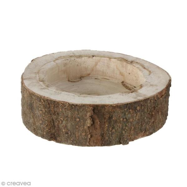 Coupelle en bois naturel - 20 x 5 cm - Photo n°1