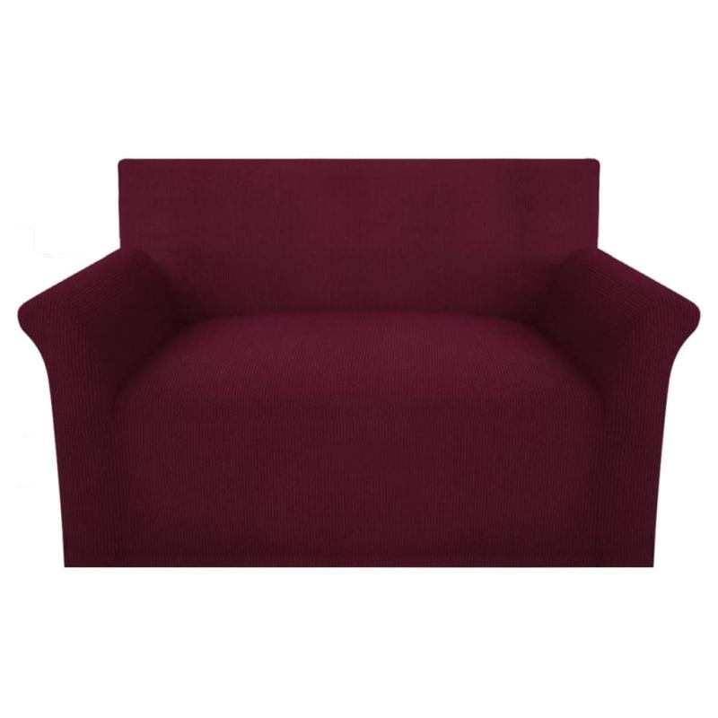 vidaxl housse de canap tissu tricot en polyester extensible bordeau housses de coussin creavea. Black Bedroom Furniture Sets. Home Design Ideas
