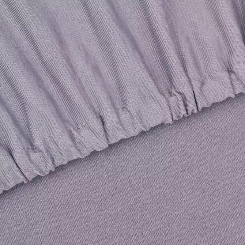 vidaxl housse de canap en polyester jersey extensible gris housses de coussin creavea. Black Bedroom Furniture Sets. Home Design Ideas