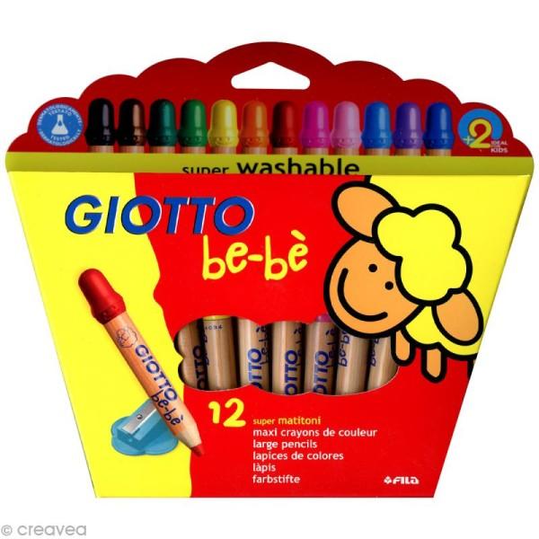 Crayons GIOTTO bébé - Étui de 12 Maxi crayons de couleur - Photo n°1