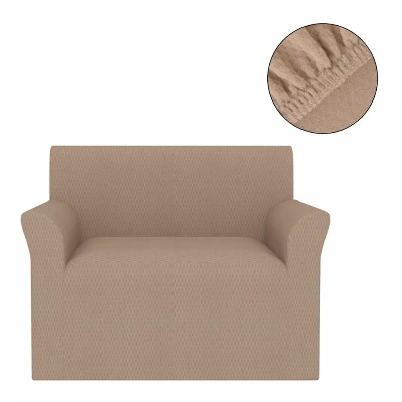 vidaxl housse extensible de canap beige piqu housses de coussin creavea. Black Bedroom Furniture Sets. Home Design Ideas