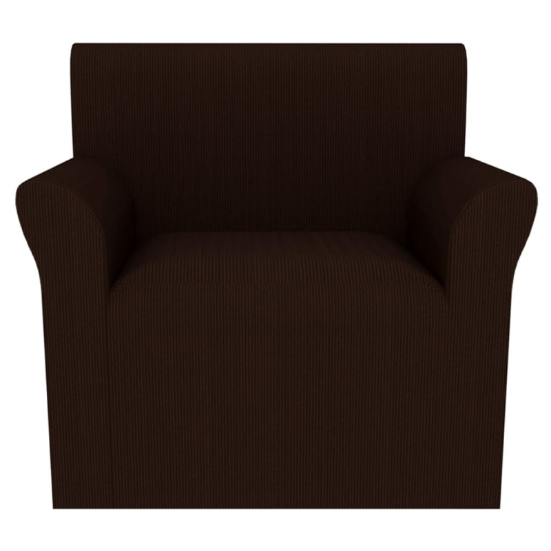 vidaxl housse extensible de fauteuil larges rayures marron. Black Bedroom Furniture Sets. Home Design Ideas