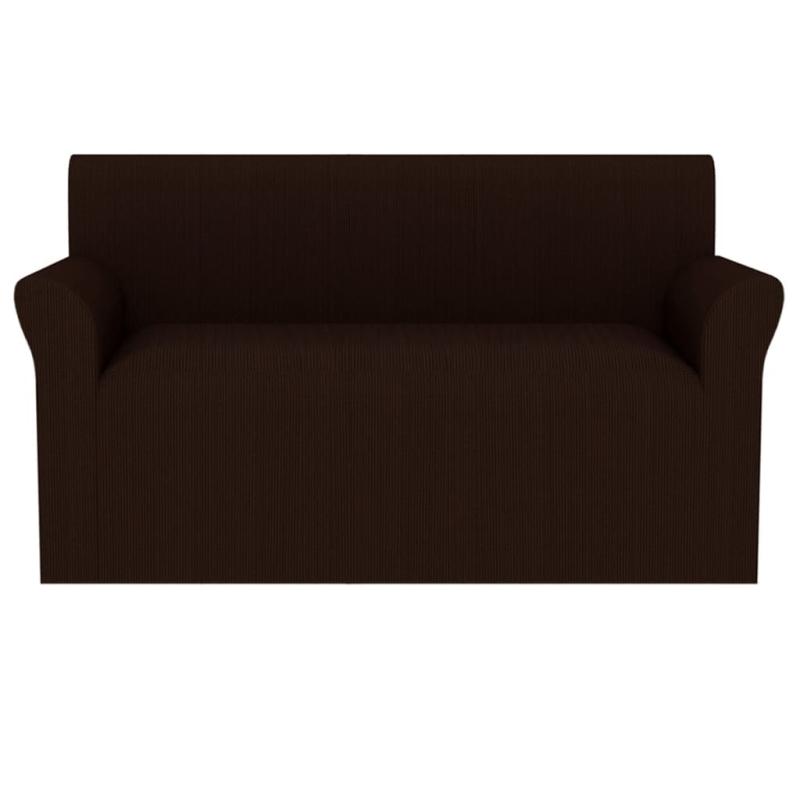 vidaxl housse de canap extensible larges rayures marron housses de coussin creavea. Black Bedroom Furniture Sets. Home Design Ideas