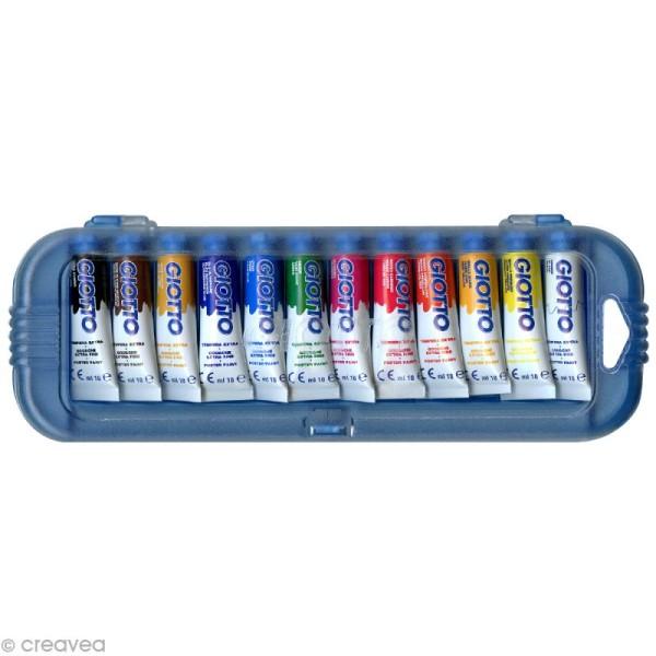 Gouache extra fine GIOTTO - 10 ml x 12 tubes - Photo n°1